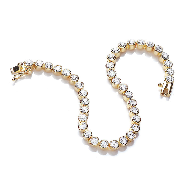 Buckley Yellow Gold Tone Crystal Tennis Bracelet - Product number 2334097