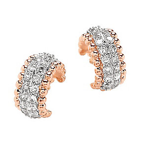 Buckley Rose Gold And Rhodium Plated Mini Hoop Earrings - Product number 2334127
