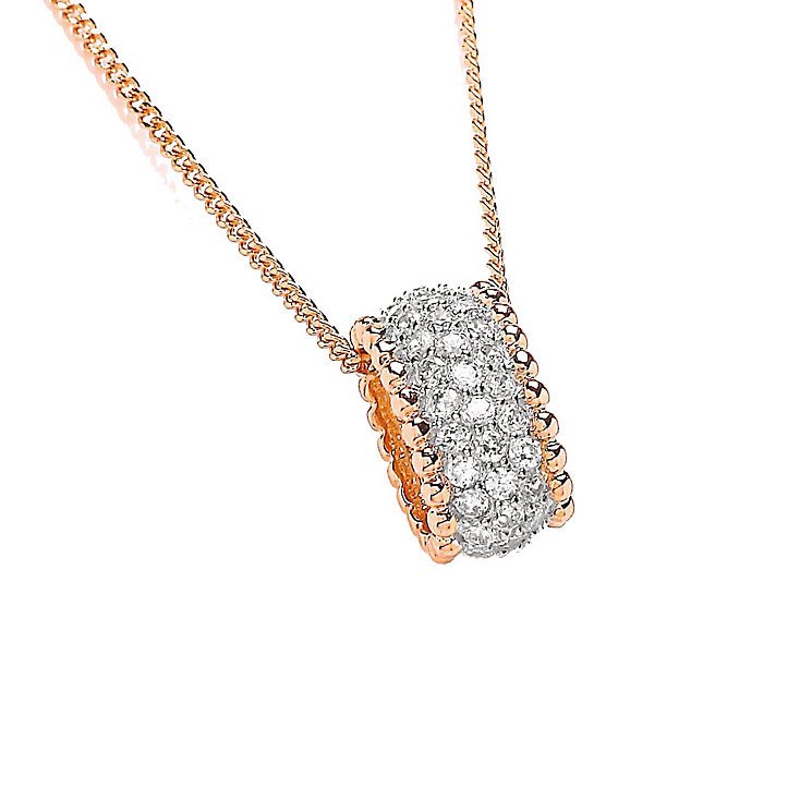 Buckley Rose Gold And Rhodium Plated Mini Hoop Pendant - Product number 2334135