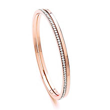 Buckley Rose Gold Plated Crystal Bangle Duo - Product number 2334186