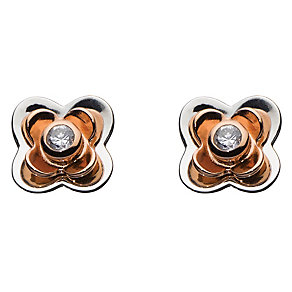 Kit Heath Silver & Rose Gold Plate Cubic Zirconia Earrings - Product number 2334585