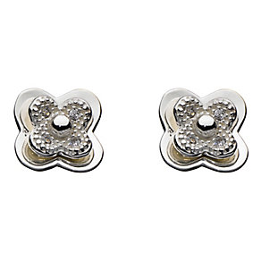 Kit Health Frosted Silver Layered Flower Stud Earrings - Product number 2335069