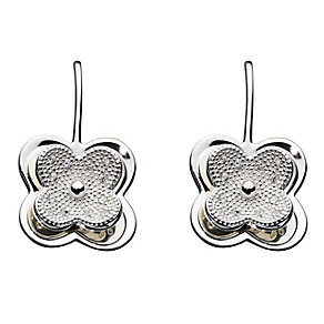 Kit Health Frosted Silver Layered Flower Drop Earrings - Product number 2335077
