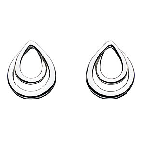 Kit Heath Silver Twist Teardrop Stud Earrings - Product number 2335131