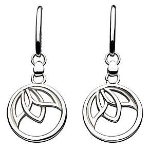 Kit Heath Silver Leaf Design Drop Earrings - Product number 2335166