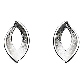 Kit Heath Frosted Silver Leaf Design Stud Earrings - Product number 2335328