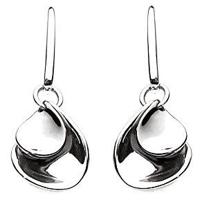 Kit Heath Polished Silver Teardrop Earrings - Product number 2335344