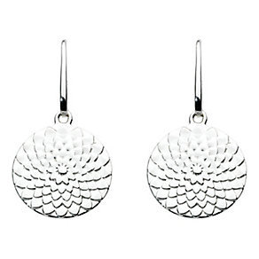 Kit Heath Silver Flower Design Disk Drop Earrings - Product number 2335379