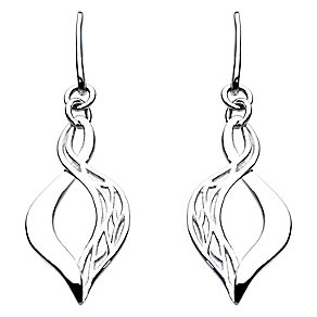 Kit Heath Silver Filigree Figure of Eight Drop Earrings - Product number 2335395