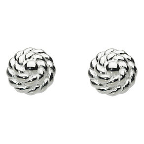Kit Heath Silver Textured Flower Stud Earrings - Product number 2335425
