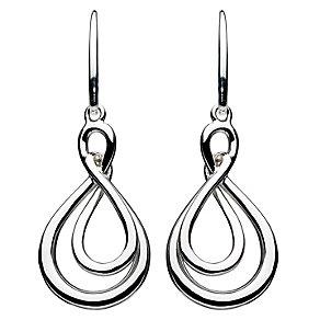 Kit Heath Silver Figure of Eight Twist Drop Earrings - Product number 2335581