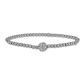 Mikey Silver Tone Sparkle Beaded Bracelet - Product number 2335654
