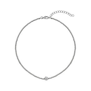 Mikey Silver Tone Sparkle Beaded Necklace - Product number 2335662
