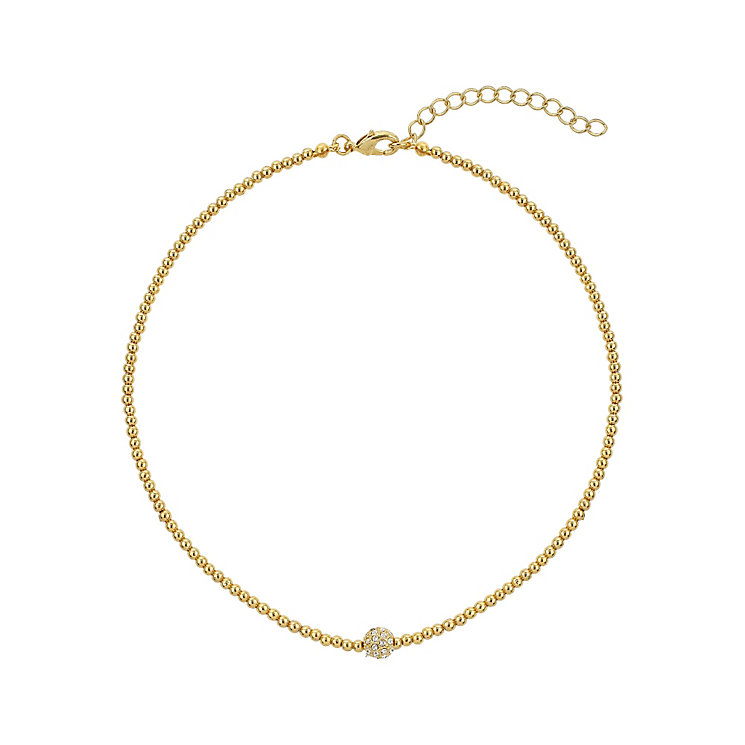Mikey Yellow Gold Tone Sparkle Beaded Necklace - Product number 2335670