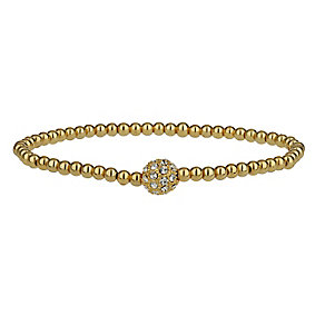 Mikey Yellow Gold Tone Sparkle Beaded Bracelet - Product number 2335697