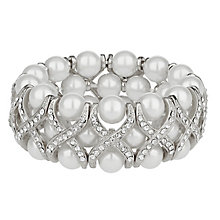 Mikey Silver Tone Crystal & Imitation Pearl Bracelet - Product number 2335832
