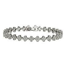 Mikey Cubic Zirconia Vintage Flower Design Bracelet - Product number 2335956