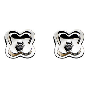 Kit Heath Sterling Silver Double Layer Flower Stud Earrings - Product number 2336065