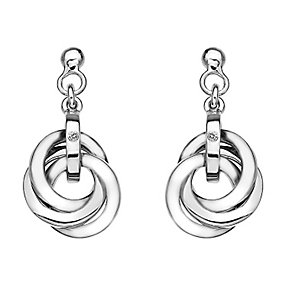 Hot Diamond Trio Collection Sterling Silver Diamond Earrings - Product number 2336103