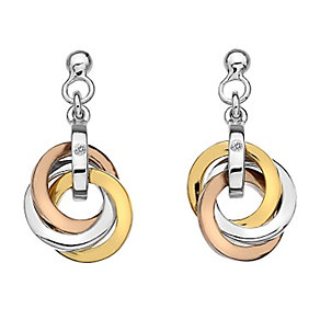 Hot Diamond Trio Collection Three Colour Diamond Earrings - Product number 2336111
