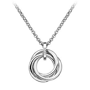 Hot Diamond Trio Collection Sterling Silver Diamond Pendant - Product number 2336197