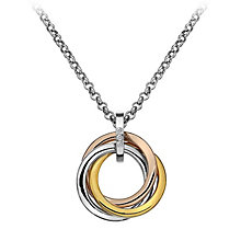 Hot Diamond Trio Collection Three Colour Diamond Pendant - Product number 2336219