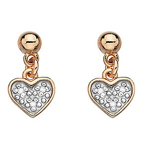 Hot Diamonds Rose Gold Plated Diamond Heart Earrings - Product number 2336235