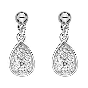 Hot Diamonds Sterling Silver Diamond Teardrop Earrings - Product number 2336243