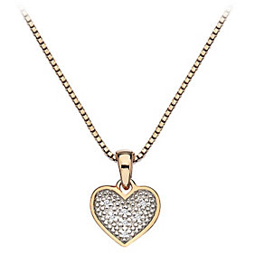 Hot Diamonds Rose Gold Plated Diamond Heart Pendant - Product number 2336278