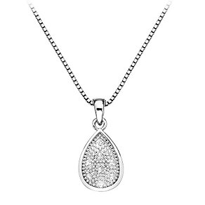 Hot Diamonds Sterling Silver Diamond Teardrop Pendant - Product number 2336286