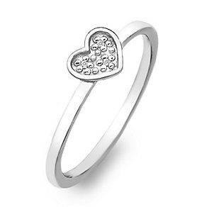 Hot Diamonds Sterling Silver Diamond Heart Ring Size L - Product number 2336294