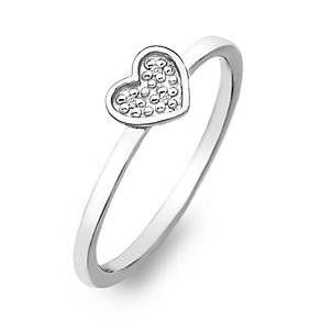 Hot Diamonds Sterling Silver Diamond Heart Ring Size M - Product number 2336308