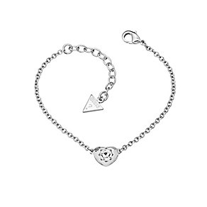 Guess Rhodium Plated Mini Heart Crystal Bracelet - Product number 2336456