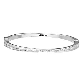 Guess Rhodium Plated Crossover Crystal Set Bangle - Product number 2336561