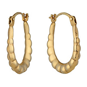 9ct Yellow Gold Creole Earrings - Product number 2336774