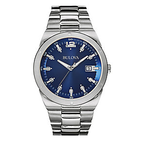 Bulova Men's Stainless Steel Blue Dial Chronograph Watch - Product number 2337215