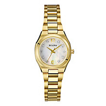 Bulova Ladies' Gold Tone Diamond Mother Of Pearl Watch - Product number 2337401