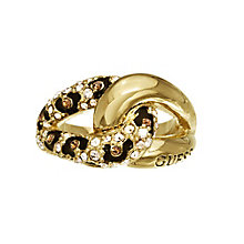 Guess Yellow Gold Plated Crystal Leopard Print Ring Small - Product number 2337649