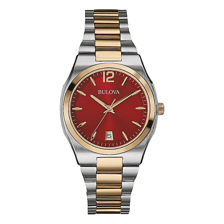 Bulova Ladies' Berry Dial & Two Tone Bracelet Watch - Product number 2337703