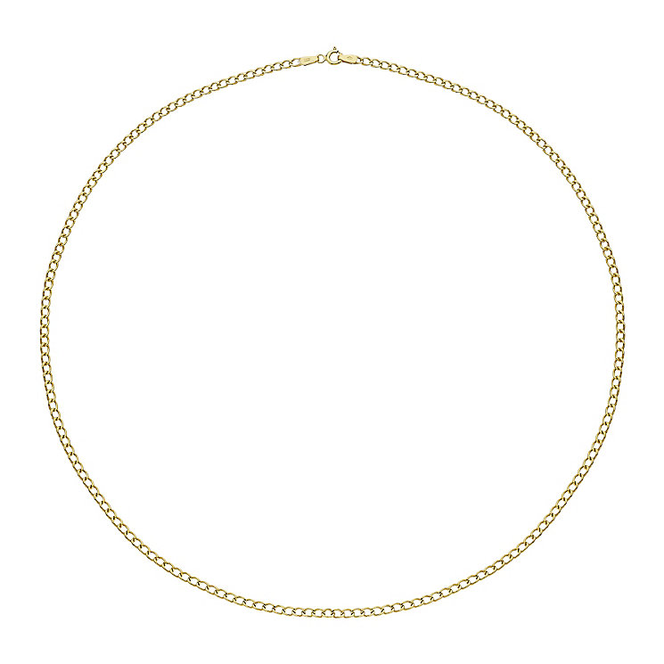 "9ct Yellow Gold 20"" Curb Chain Necklet - Product number 2338742"