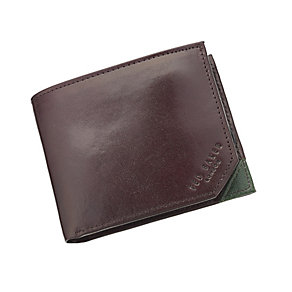 Ted Baker Promenz chocolate leather bi-fold wallet - Product number 2339269