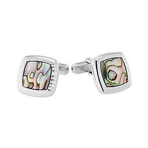 Ted Baker Mamon square green shell cufflinks - Product number 2339307