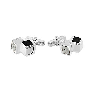 Ted Baker Carbcuf silver carbon fibre cufflinks - Product number 2339331