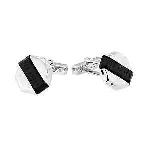 Ted Baker Bandow silver and black cufflinks - Product number 2339412