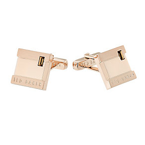 Ted Baker Brushup rose gold-plated square cufflinks - Product number 2339501
