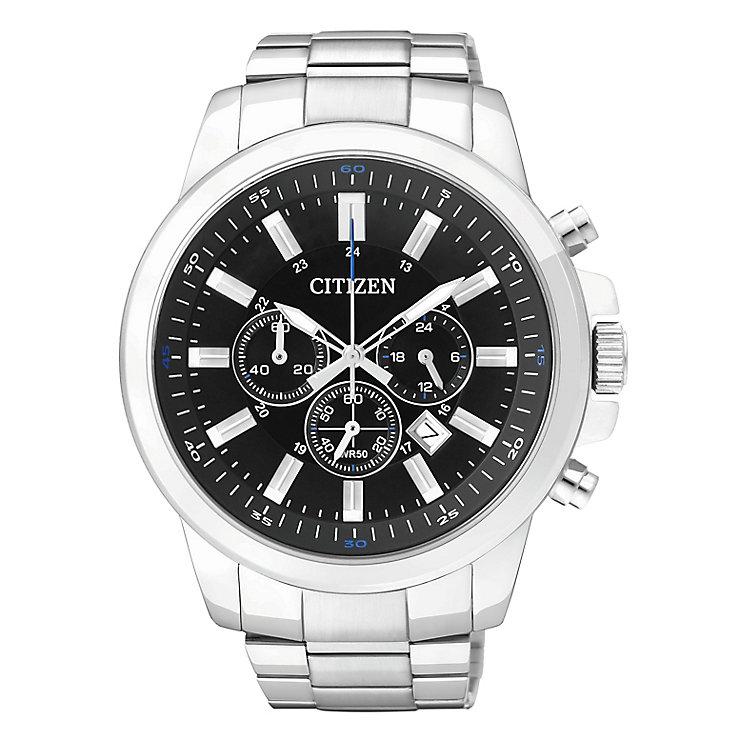 Citizen Quartz Men's Round Black Dial Bracelet Watch - Product number 2341565