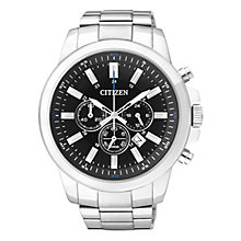 Citizen Quartz Men's Round Black Dial Bracelet Watch - Product number 2341565