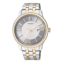 Citizen Quartz Men's White Dial Two Tone Bracelet Watch - Product number 2341581