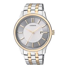 Citizen Quartz Men's White Dial Two Tone Bracelet Watch - Product number 2341581