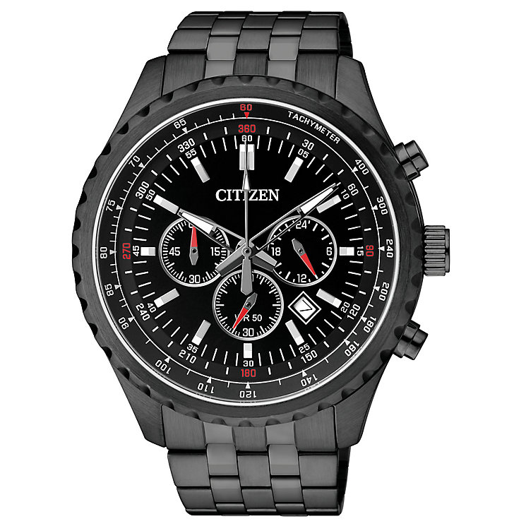 Citizen Quartz Men's Black Ion Plated Bracelet Watch - Product number 2341611